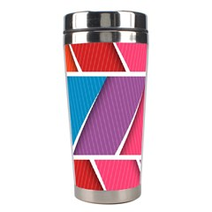 Abstract Background Colorful Stainless Steel Travel Tumblers