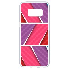 Abstract Background Colorful Samsung Galaxy S8 White Seamless Case by Nexatart