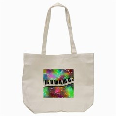 Piano Keys Music Colorful 3d Tote Bag (cream) by Nexatart