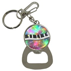 Piano Keys Music Colorful 3d Button Necklaces by Nexatart