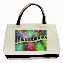 Piano Keys Music Colorful 3d Basic Tote Bag by Nexatart