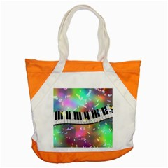 Piano Keys Music Colorful 3d Accent Tote Bag by Nexatart