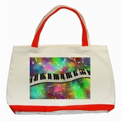 Piano Keys Music Colorful 3d Classic Tote Bag (red) by Nexatart