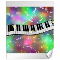 Piano Keys Music Colorful 3d Canvas 16  X 20