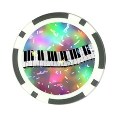 Piano Keys Music Colorful 3d Poker Chip Card Guard by Nexatart