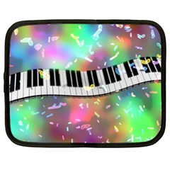 Piano Keys Music Colorful 3d Netbook Case (xl)  by Nexatart