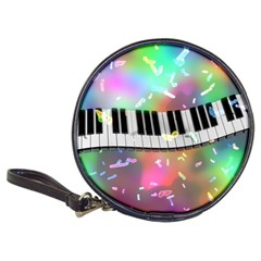 Piano Keys Music Colorful 3d Classic 20 Cd Wallets by Nexatart