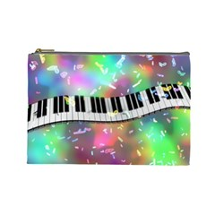 Piano Keys Music Colorful 3d Cosmetic Bag (large)