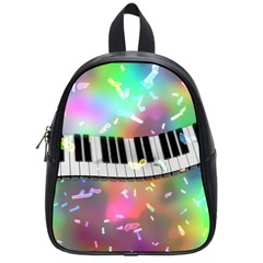 Piano Keys Music Colorful 3d School Bag (small) by Nexatart