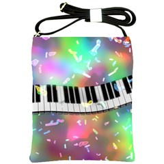 Piano Keys Music Colorful 3d Shoulder Sling Bags by Nexatart