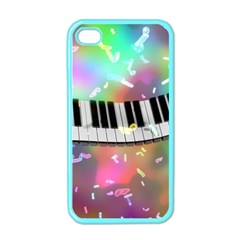Piano Keys Music Colorful 3d Apple Iphone 4 Case (color) by Nexatart