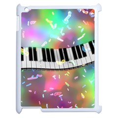 Piano Keys Music Colorful 3d Apple Ipad 2 Case (white) by Nexatart