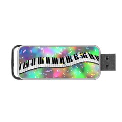Piano Keys Music Colorful 3d Portable Usb Flash (two Sides) by Nexatart