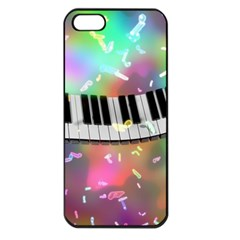 Piano Keys Music Colorful 3d Apple Iphone 5 Seamless Case (black)