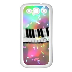 Piano Keys Music Colorful 3d Samsung Galaxy S3 Back Case (white) by Nexatart