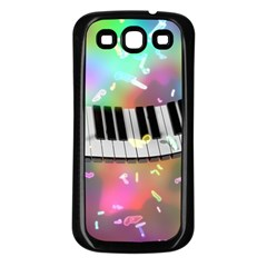 Piano Keys Music Colorful 3d Samsung Galaxy S3 Back Case (black) by Nexatart