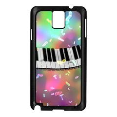 Piano Keys Music Colorful 3d Samsung Galaxy Note 3 N9005 Case (black) by Nexatart