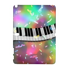 Piano Keys Music Colorful 3d Galaxy Note 1 by Nexatart