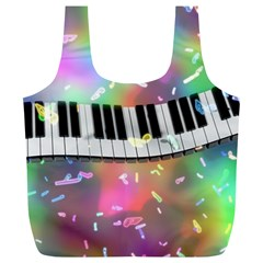 Piano Keys Music Colorful 3d Full Print Recycle Bags (l)  by Nexatart
