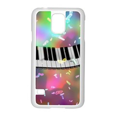 Piano Keys Music Colorful 3d Samsung Galaxy S5 Case (white)
