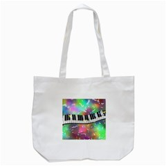 Piano Keys Music Colorful 3d Tote Bag (white) by Nexatart