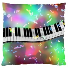 Piano Keys Music Colorful 3d Large Flano Cushion Case (two Sides) by Nexatart