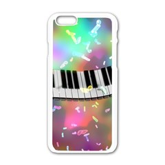 Piano Keys Music Colorful 3d Apple Iphone 6/6s White Enamel Case by Nexatart