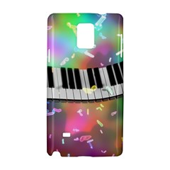 Piano Keys Music Colorful 3d Samsung Galaxy Note 4 Hardshell Case by Nexatart
