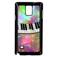 Piano Keys Music Colorful 3d Samsung Galaxy Note 4 Case (black) by Nexatart