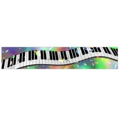Piano Keys Music Colorful 3d Large Flano Scarf  by Nexatart