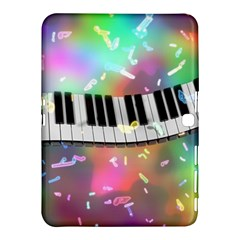 Piano Keys Music Colorful 3d Samsung Galaxy Tab 4 (10 1 ) Hardshell Case  by Nexatart