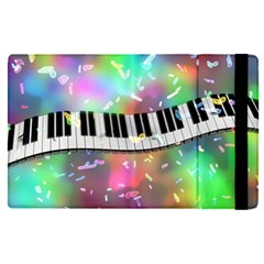 Piano Keys Music Colorful 3d Apple Ipad Pro 9 7   Flip Case by Nexatart