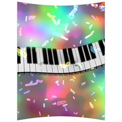 Piano Keys Music Colorful 3d Back Support Cushion by Nexatart