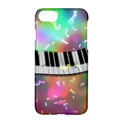 Piano Keys Music Colorful 3d Apple Iphone 8 Hardshell Case by Nexatart