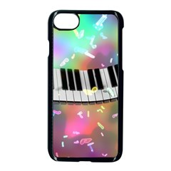 Piano Keys Music Colorful 3d Apple Iphone 8 Seamless Case (black) by Nexatart