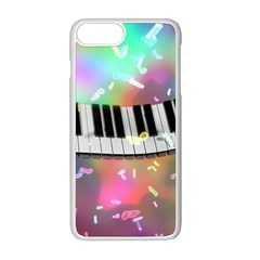 Piano Keys Music Colorful 3d Apple Iphone 8 Plus Seamless Case (white)