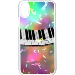 Piano Keys Music Colorful 3d Apple Iphone X Seamless Case (white) by Nexatart