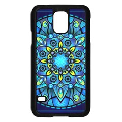 Mandala Blue Abstract Circle Samsung Galaxy S5 Case (black)