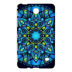 Mandala Blue Abstract Circle Samsung Galaxy Tab 4 (8 ) Hardshell Case  by Nexatart