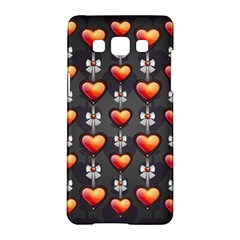 Love Heart Background Samsung Galaxy A5 Hardshell Case