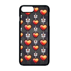 Love Heart Background Apple Iphone 8 Plus Seamless Case (black)