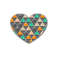 Abstract Geometric Triangle Shape Heart Coaster (4 Pack)