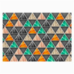 Abstract Geometric Triangle Shape Large Glasses Cloth by Nexatart