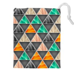 Abstract Geometric Triangle Shape Drawstring Pouches (xxl)