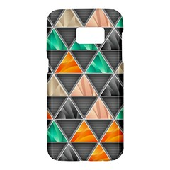 Abstract Geometric Triangle Shape Samsung Galaxy S7 Hardshell Case