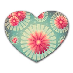 Background Floral Flower Texture Heart Mousepads
