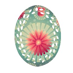 Background Floral Flower Texture Ornament (oval Filigree)