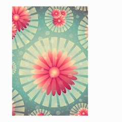 Background Floral Flower Texture Small Garden Flag (two Sides) by Nexatart