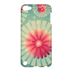 Background Floral Flower Texture Apple Ipod Touch 5 Hardshell Case