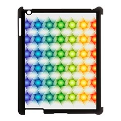 Background Colorful Geometric Apple Ipad 3/4 Case (black)